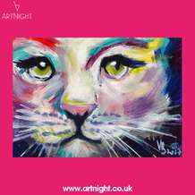 Artnight-paint-sip-evening-colourful-cat-1571487209