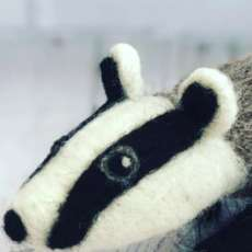Needle-felting-workshop-beautiful-badger-1554119475